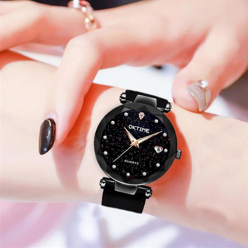 New Fashion Women Watches Star Sky Dial Clock Luxury Women's Bracelet Quartz Wrist Watches