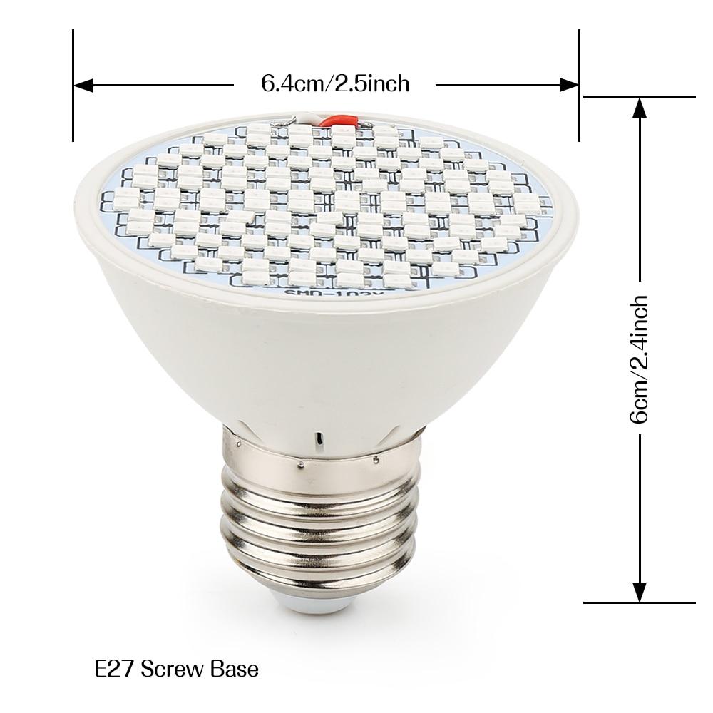 E27 LED Grow Light 10W 86Red: 20Bleue 15W 90Red: 36Blue Phytolamp for - Մասնագիտական լուսավորություն - Լուսանկար 5