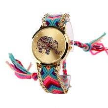 Fashion Women Geneva Watches Gold Wristwatch Ladies Quartz Watches Lucky Elephant Traditional design