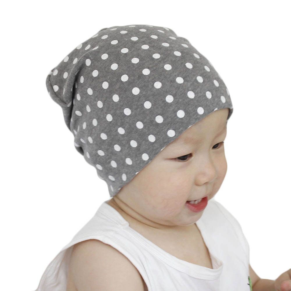 Cotton Hat Dot-Caps Skullies-Beanies Casual-Cap Autumn Winter Girls Baby Boys Fashion