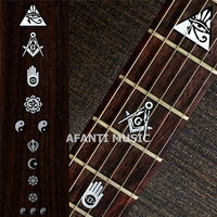 Afanti music Guitar Finger Board sticker / Shell sticker / Personality style Inlay (FPD 125)