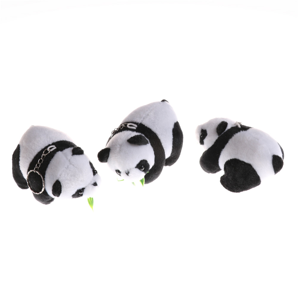 Toys & Hobbies 1 Pcs Pendant Toys Wedding Bouquet Decoration Lovely Panda Doll Plush Stuffed Key Chain Gift To Have A Unique National Style