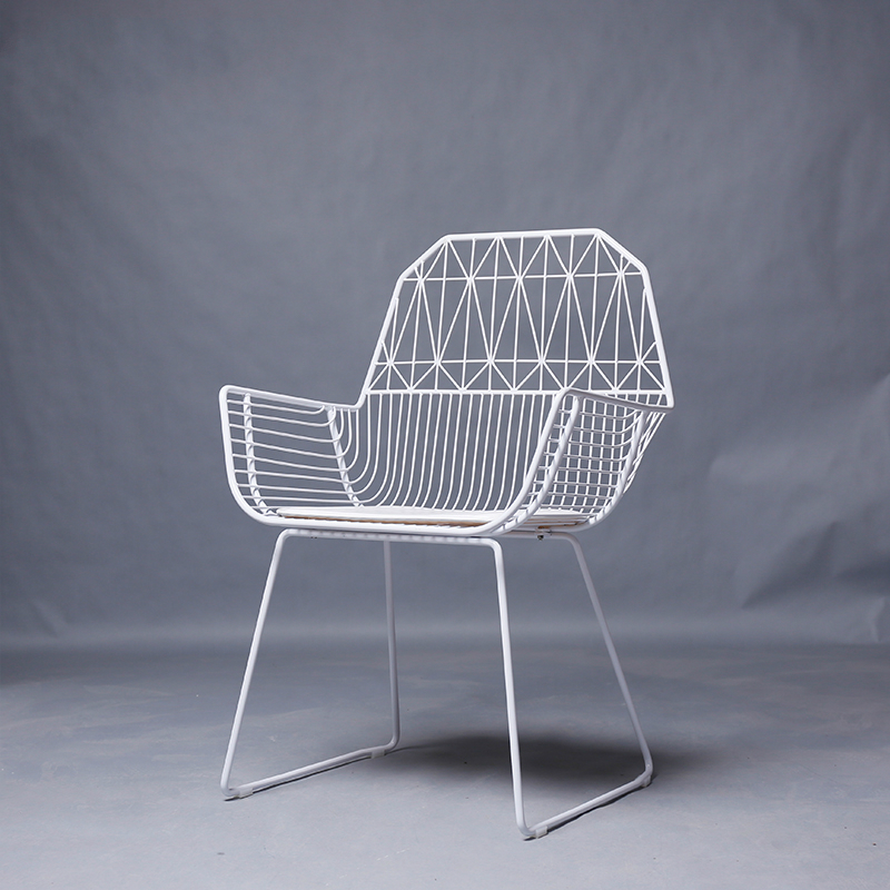 Chaise de Table créative en métal Simple moderne main courante en fer Design chaise d'ordinateur chaise de loisirs en plein air