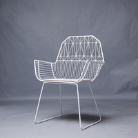 Metal Creative Table Chair Simple Modern Iron Handrail Design Computer Chair Outdoor Leisure Chair