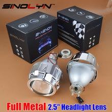 SINOLYN Upgrade Metall 2,5 Pro HID Bi xenon Projektor Scheinwerfer Objektiv H4 H7 Verwenden H1 Birne Auto Styling Scheinwerfer Linsen Retrofit DIY