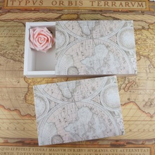 23*16*5cm 10pcs old map find treasure Paper Box candy Cookie candle valentine gift Packaging Wedding Christmas packaging