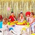 Geburtstag Partei Hintergrund Curtais Fringe Lametta Folie Regen Vorhang Kinder Einhorn Party Hochzeit Hintergrund Foto Booth Wand Drapieren Decor