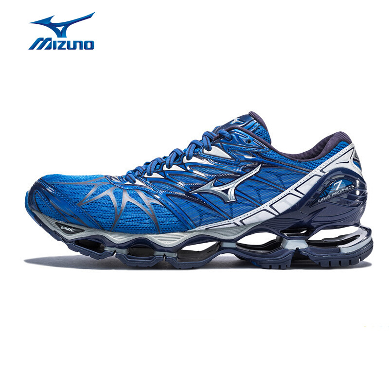 MIZUNO Men PROPHECY 7 Running Shoes WAVE Cushion Sports Shoes Comfort Breathable Sneakers J1GC180004 XYP616 mizuno 2 38 5 43 5 mizuno wave prophecy 2
