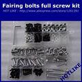 Fairing bolts kit for SUZUKI GSXR600 GSXR750 2006 2007 K6 K7 GSXR 600 750 06 07 Fairing screws kits Black silver