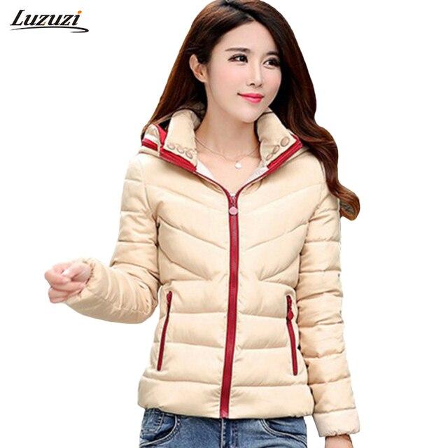 1 шт. зимняя куртка женская с капюшоном хлопок пальто женщин jaqueta feminina Mujer Зимние куртки feminino Z516
