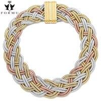 European USA Fashion Design Jewelry Bohemian Women Handmade Woven 8 Layers Chain Luxury Collar Necklace Wholesale