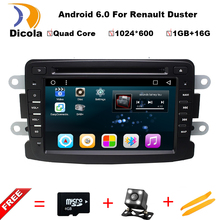 Quad Core Pure Android 6.0.1 GPS Navigator Radio For Dacia Renault Duster Logan Sandero Car DVD Central Cassette Player maps