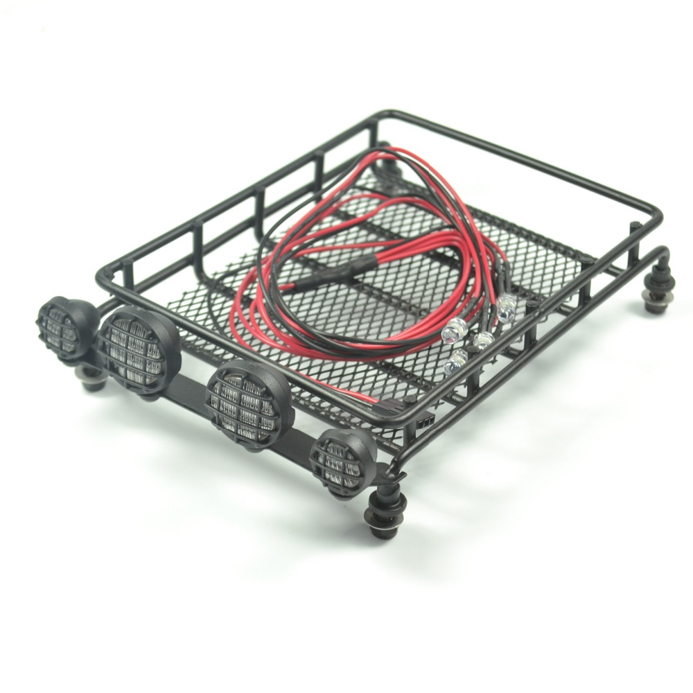 1 10 RC Crawler Roof Rack Luggage Tray Set For Tamiya CC01 Pajero Jeep d90