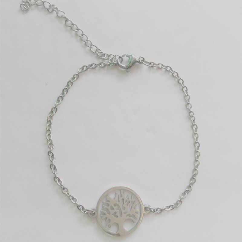2019 новый модный браслет с деревом жизни браслет Дамский Мужской Детский ювелирный стальной браслет из нержавеющей стали подарок регулируемый