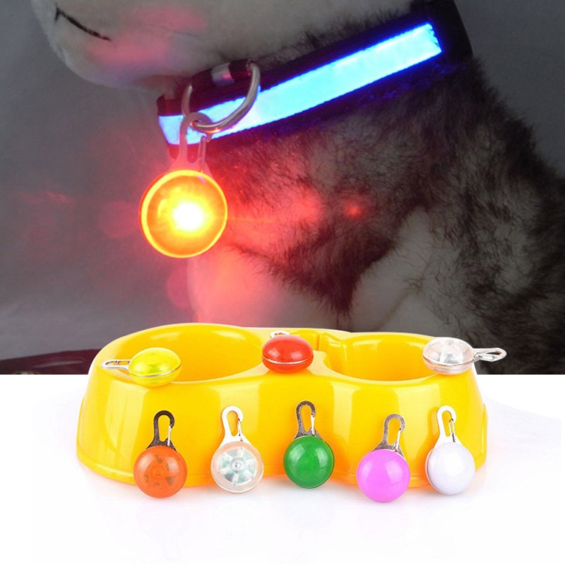 Led Light Pet Dog Collar Safety Glow Luminous LED Flashing Lights Neck Strap Pendant Necklace Pet Luminous Bright Glowing Collar