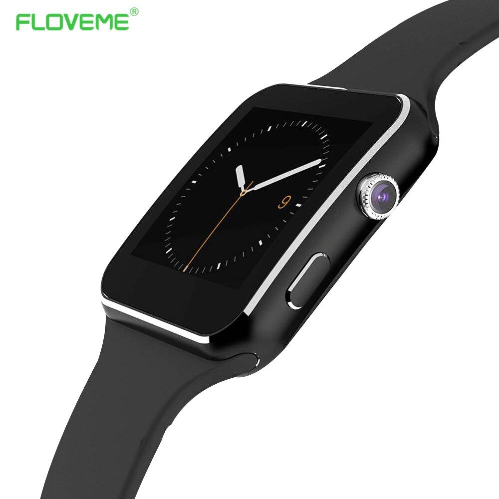 Floveme e6 bluetooth smart watch android llamada de recordatorio reloj para andr