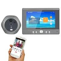 Wireless Wifi Doorbell Digital Peephole Door Viewer 5 Front Door Peephole Camera 160 degrees view Support Smartphone Doorphone