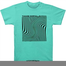 31001e090134 Funny Men t shirt Women novelty tshirt Tame Impala Wave Square Slim Fit T- Shirt
