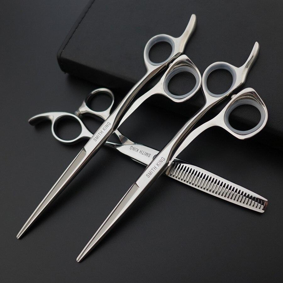 Tesouras do barbeiro tesoura de Cabelo Professional Hair styling, 5.5 polegada & 6 polegada tesoura De Corte, 6 polegada tesoura de Desbaste, salão de Cabeleireiro tesoura