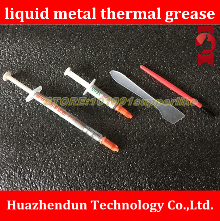 New Product-liquid metal thermal grease   Laptop water cooling CPU lid, liquid metal heat conductive paste, silicone artifact 73w mk grizzly bear liquid metal for thermal grizzly conductonaut 1g diy silicon grease for cpu gpu graphics card easy to cool