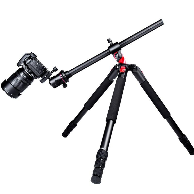 Câmera De Fibra De Carbono Tripé Manbily MPT284C 72 polegada Horizontal Profissional Leve Tripé para Canon Nikon Sony DSLR Camera