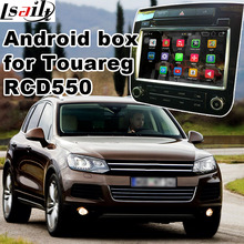 Android Four.Four 5.1 GPS navigation field for Volkswagen Touareg RCD550 system video interface with forged display