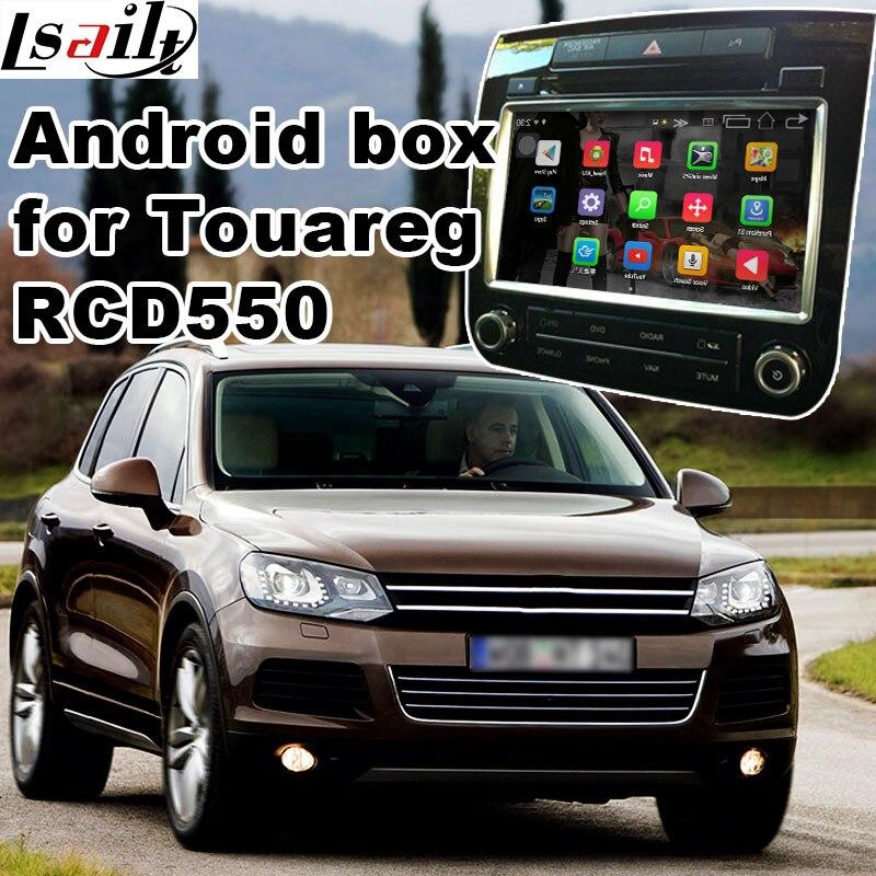 Android 6.0 GPS box di navigazione per Volkswagen Touareg RCD550 scatola di interfaccia del sistema di video con Carplay youtube waze yandex navi