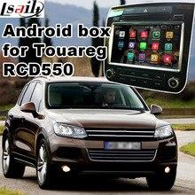 Sistema Android cuadro de navegación GPS para Volkswagen Touareg RCD550 caja de interfaz de vídeo espejo enlace youtube waze yandex iGO navi