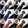 2016 New 8cm 100% Silk Formal Business Wedding Classic Men Tie Stripe Grid Corbatas Fashion Accessories Men Necktie Whole Sale