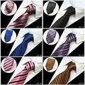 2016 Nueva 8 cm 100% de Seda de Boda Formal de Negocios Clásicos Accesorios de Moda Hombre Corbata de Los Hombres Corbatas Corbata de La Raya Rejilla Entera venta