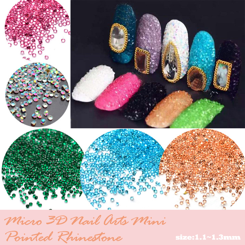 Tiny Mini Crystal Pixie Micro 1.1-1.3mm Mini Nail Arts Rhinestones - Արվեստ, արհեստ և կարի - Լուսանկար 5