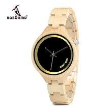 BOBO BIRD WP16 Wood Women Watch at 4 o'clock Slant LOGO Wooden Band Exquisite Quartz Watches ladies Timepieces relogio feminino