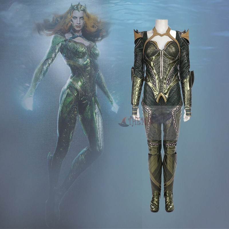 Athemis movie Justice League Mera Suit cosplay Costume custom made set High Quality