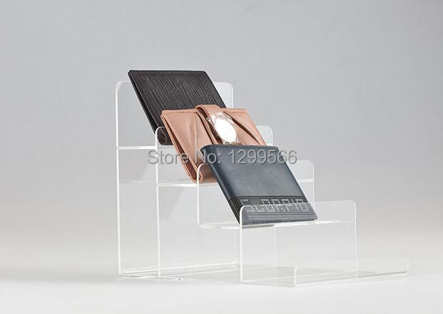 4pcs free shipping fourlayers high quality clear acrylic wallet display holder cell phone jewelry