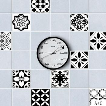 Assorted Black & White Tile Stickers 100*20cm