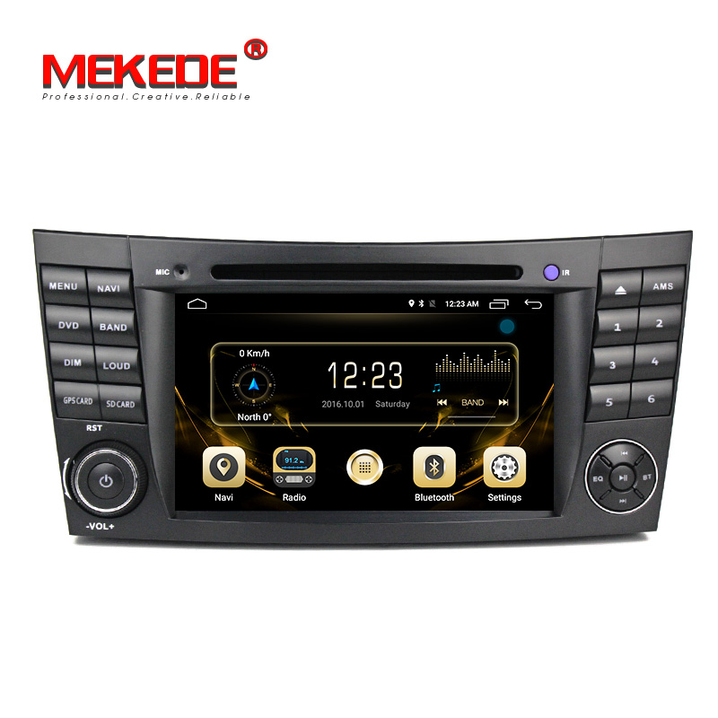 gold ui android 7 1 car dvd radio stereo player for benz e. Black Bedroom Furniture Sets. Home Design Ideas