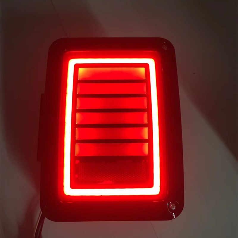 2 pcs/paire ÉTATS-UNIS et L'UE Standard Noir Auto offroad LED Feux Arrière avec Arrière Signal De Frein N ° Lampes Éclairage pour Jeep Wrangler Jk