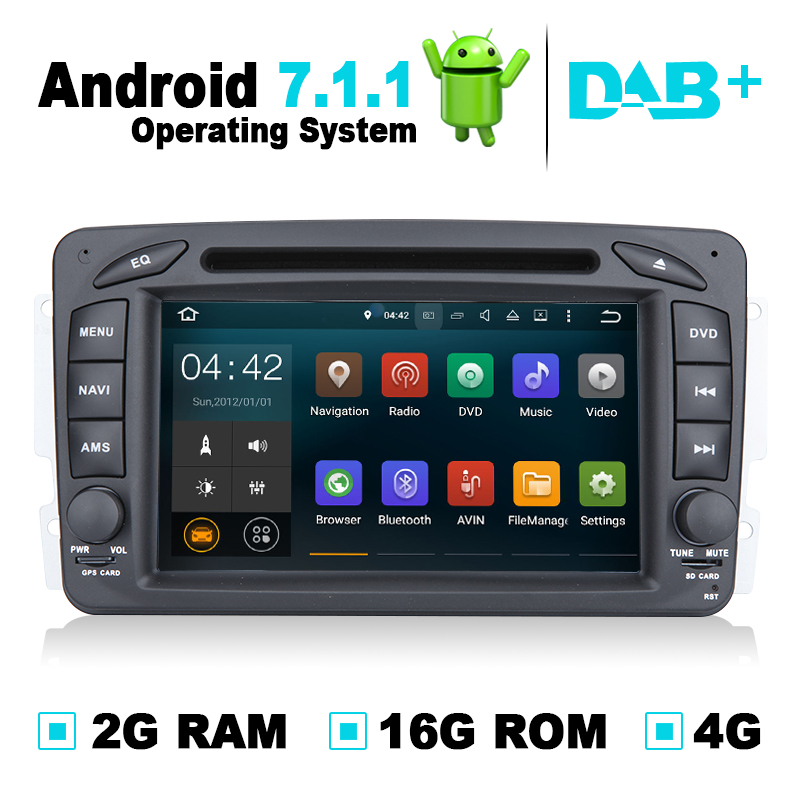 2G RAM Android 7.1.1 Auto Radio Audio Video Car Navigation GPS System DVD Player for Mercedes W203 for Mercedes G Class W463