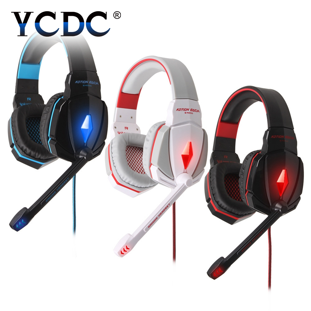 YCDC Gaming Headset Wired headphones Game earphone with microphone led noise canceling headphone for PS4 computer pc USB