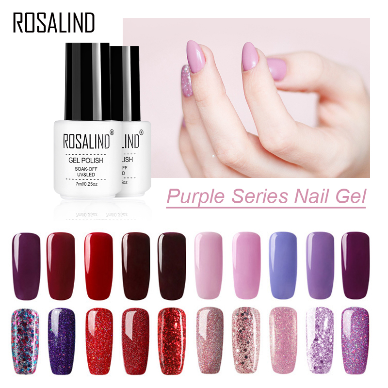 ROSALIND Gel Polish Set For Manicure Semi Permanent Hybrid For Nail Soak Off Primer