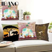 Christmas Pillow 45x45cm Elephants Cushion Cover Case Polyester&Linen Car Covers Decorative 1PCS/Lot