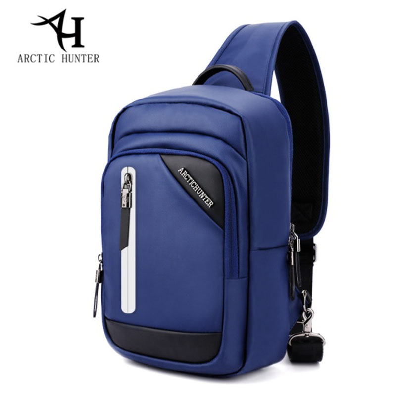 Multifunction Crossbody Bags Men USB Charging Chest Pack Short Trip Messengers Chest Bag Waterproof Sling Shoulder Bag Male