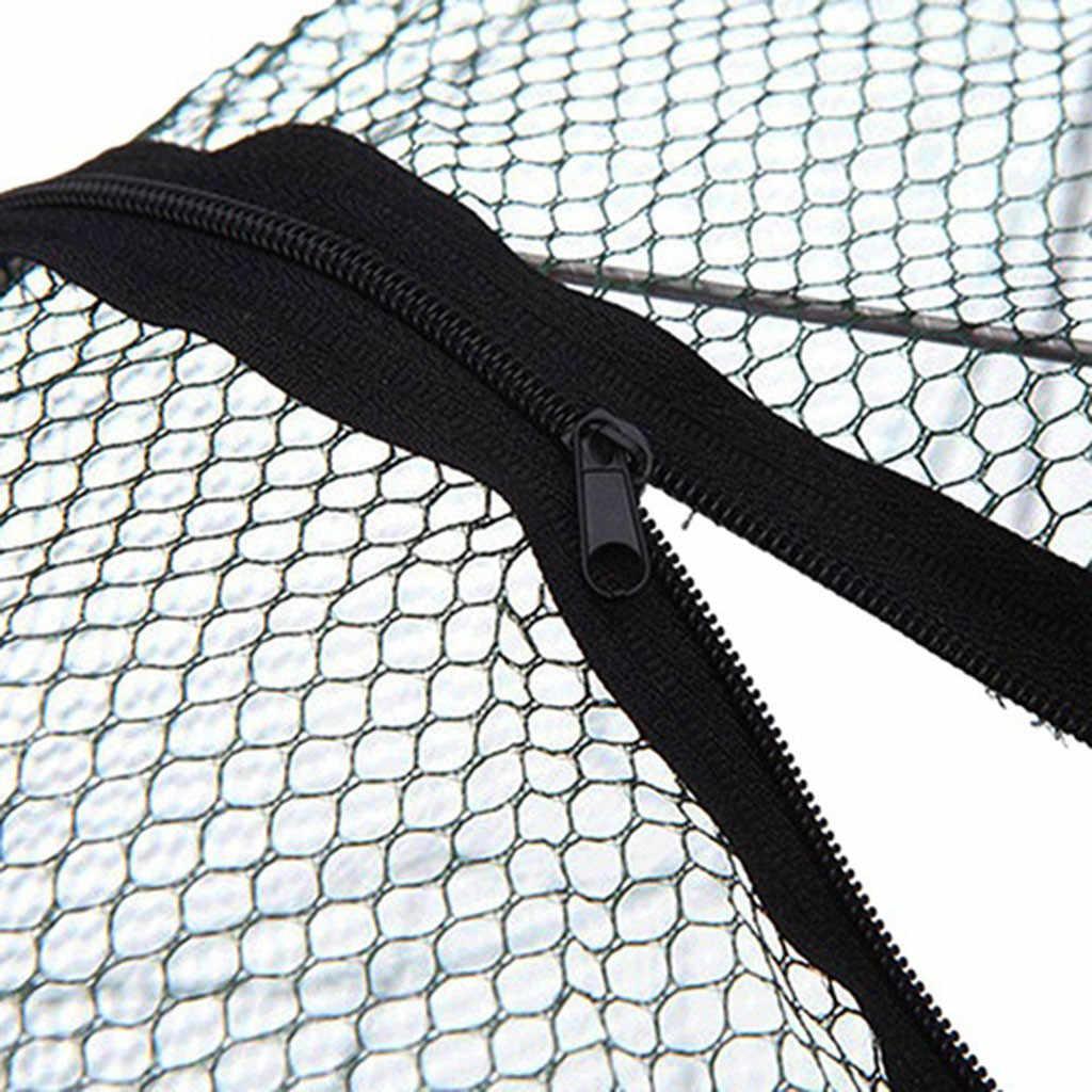 شبكة صيد الروبيان الأتوماتيكية ذات الثقوب المعززة قفص صيد السمك من النايلون قابل للطي لصيد السلطعون شبكة صيد 3.0 #