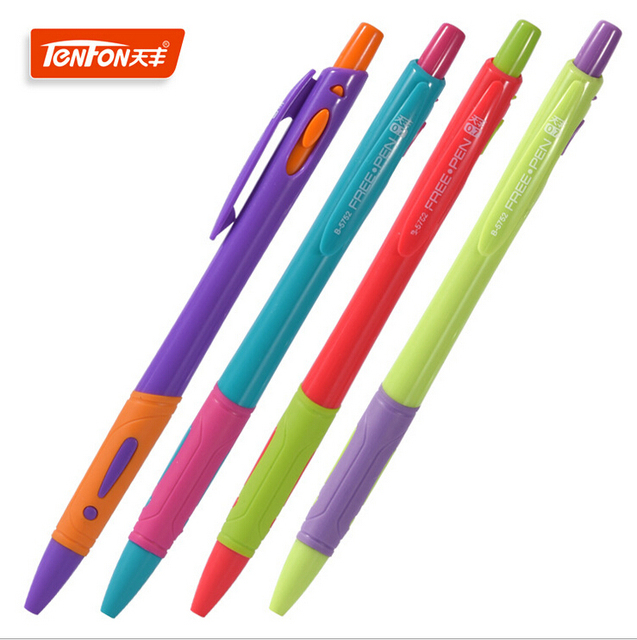 4pcs Lot High Quality Stationery 0 7mm Blue Ink Ball Point Pens School Office