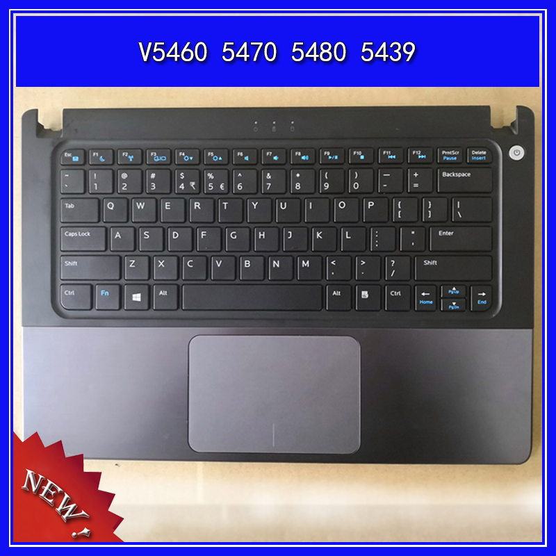 Laptop Palmrest Upper cover English keyboard For DELL Vostro V5460 5470 5480 5439 bottom base cover lower cover C/D Shell