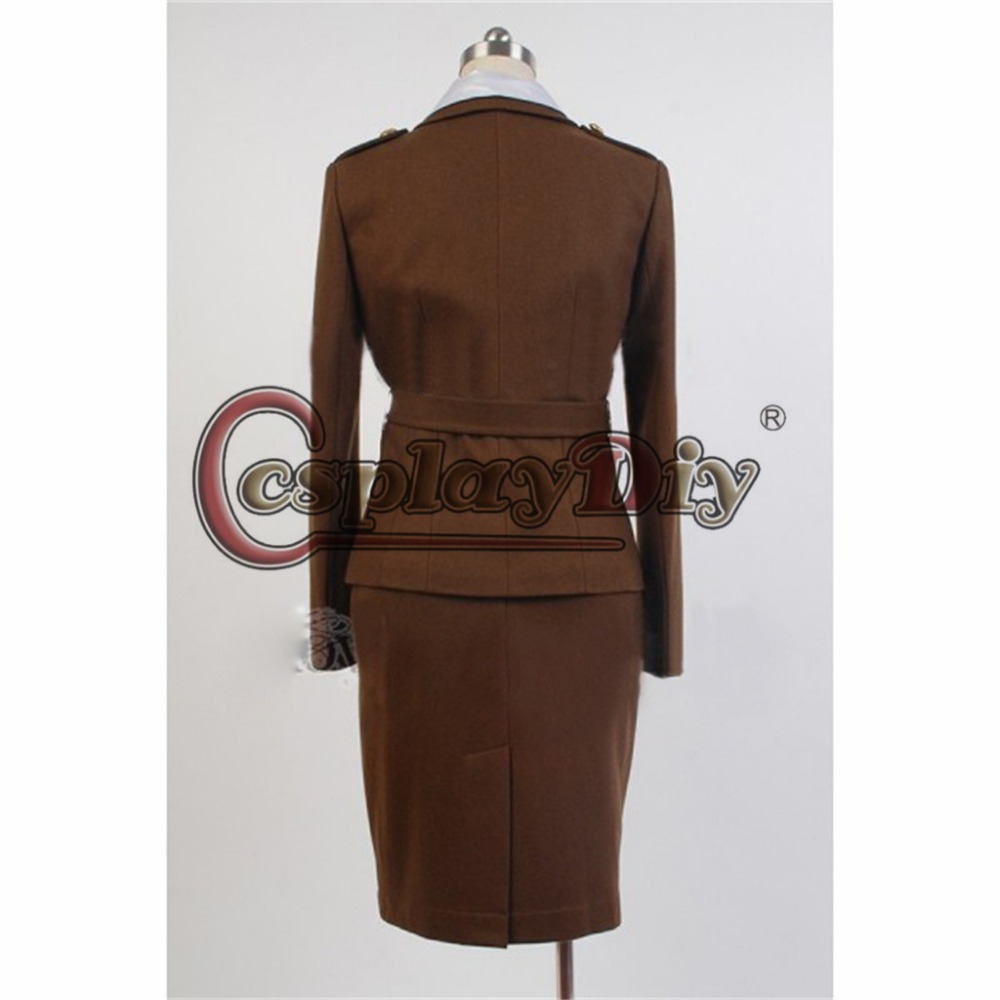 cosplaydiy captain america the first avenger cosplay costume agent peggy carter officer suit lady halloween costume custom made in movie tv costumes from