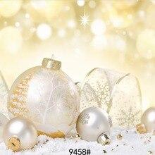 Фон для фотосъемки с рождественским мячом, виниловые фотообои для студийной фотосъемки, 7x5ft SJOLOON