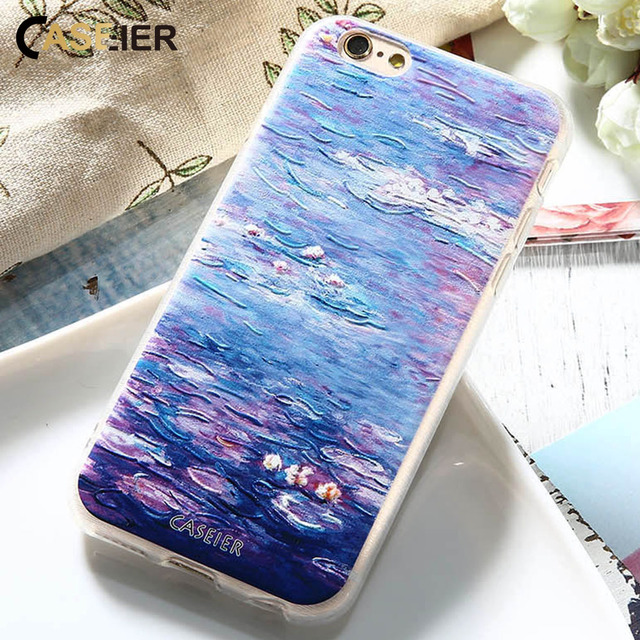buy popular b91bf a3b55 US $2.26 5% OFF|Aliexpress.com : Buy CASEIER Monet Water lilies Cases For  iPhone 7 6 6s Plus 5 5s Art Printed 3D Classic Cover For Samsung Galaxy S6  ...
