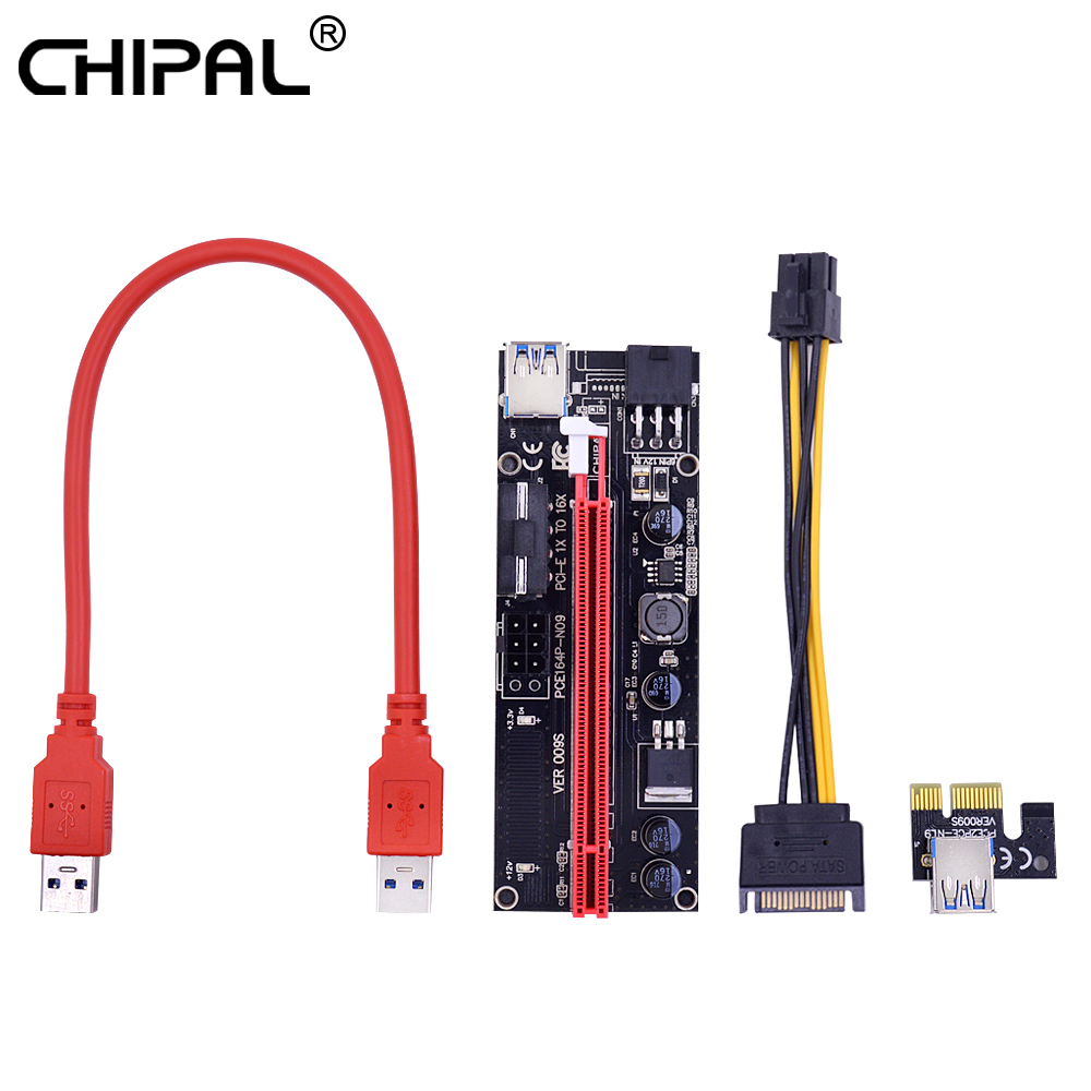 6pin Molex Power Cord For Bitcoin Miner Special Summer Sale Led Usb 3.0 Cable Chipal 10pcs Ver009s 0.6m Pci-e Riser Card Pci Express 1x To 16x