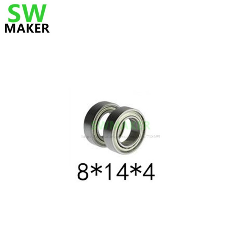 SWMAKER 1pcs <font><b>MR148ZZ</b></font> Deep Groove Ball Miniature Mini bearings <font><b>MR148ZZ</b></font> MR148-ZZ 8*14*4mm <font><b>8*14*4</b></font> High quality Bearing Steel image